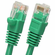 1 Foot Molded-Booted Cat5e Network Patch Cable - Green