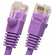 1 Foot Molded-Booted Cat5e Network Patch Cable - Purple