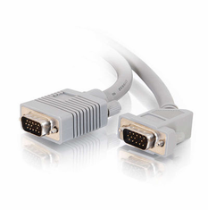 1 Foot Premium Shielded HD15 SXGA M/M Monitor Cable with 45° Angled Male Connector
