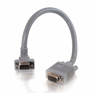 1 Foot Premium Shielded HD15 SXGA M/M Monitor Cable with 90� Downward-Angled Male Connector