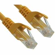 1 Foot Yellow CAT6 Ferrari Boot Network Patch Cable