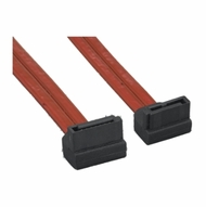 """1 Meter (40"""") Left Angle to Right Angle Translucent Red SATA Data Cable"""