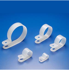 """1"""" R-Type Clear Cable Clamp - 100 Pack"""
