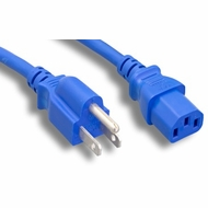 10 Foot 18AWG C13 to 5-15P 10A/125V Blue Power Cord