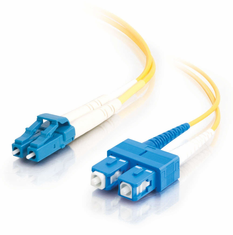 10 Meter SC/LC Single Mode Duplex 9/125  Fiber Cable