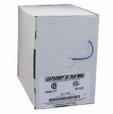 1000 Feet Blue Cat 5E Solid Cable Plenum (Ships from California)