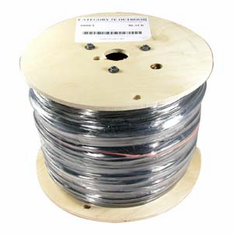 1000 Feet Cat5e Solid Black Outdoor Direct Burial Cable (Ships from California)