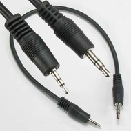 """12"""" (1 Foot) 2.5mm Male Plug to 3.5mm Male Plug Stereo Audio Adapter Cable"""