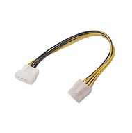 """12"""" 4 Pin Molex Female Socket to 8 Pin P4 Male Plug (Not for Video Cards)"""