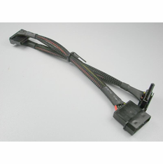 """OKGear 12"""" 4 Pin Molex to (2) SATA II Right Angle Power Cables, with Net Jacket"""