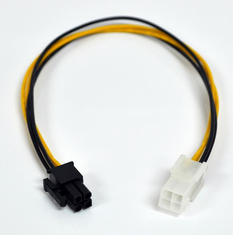 "12"" ATX 4 Pin Male / Female Motherboard Power Extension Cable"