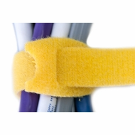 12 Inch Hook and Loop Cable Ties - 10 Pack - Yellow