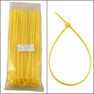 12 Inch Yellow Nylon Cable Ties - 100 Pack