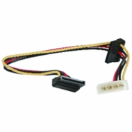 """12"""" SATA Power Cable, Dual Right Angle"""