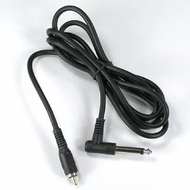 "15 Foot 1/4"" Right Angle Mono Plug to RCA Male Cable"