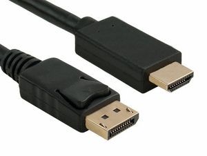 15 Foot DisplayPort 1.2 Male to HDMI Male Cable, UHD 4K 60p