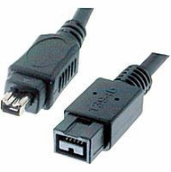 15 Foot IEEE 1394b 9 Pin to 4 Pin Firewire 800 Cable