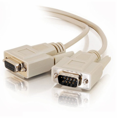 15 Foot Male / Female 9 Pin ( DB9 ) Serial Extension Cable