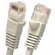 18 Inch Molded-Booted Cat5e Network Patch Cable - Gray