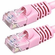 18 Inch Molded-Booted Cat5e Network Patch Cable - Pink