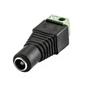 2.1mm Round Socket with Screw Terminals - Click to enlarge