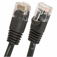 2.5 Foot (30 Inch) Black Cat6 Molded Patch Cable (Network Cable)