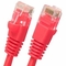 2.5 Foot (30 Inch) Molded-Booted Cat5e Network Patch Cable - Red