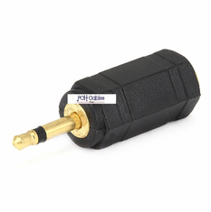 2.5mm Mono Plug to 3.5mm Stereo Jack Adaptor - Gold Plated