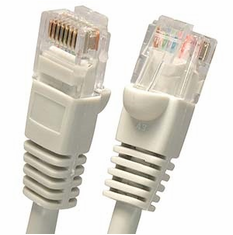2 Foot Molded-Booted Cat5e Network Patch Cable - Gray