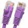 5 Foot Molded-Booted Cat5e Network Patch Cable - Purple