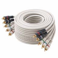 25 Foot 5 RCA White Python� Component Video + Stereo RCA Cables
