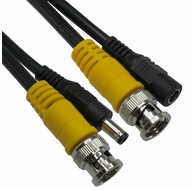 25 Foot BNC Male to Male, DC Male to Female Security Camera Cable