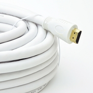 25 Foot HDMI High Speed w/Ethernet, 24awg CL-2 (In-Wall Rated) Cable - White