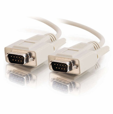 25 Foot Male / Male 9 Pin ( DB9 ) Serial Cable