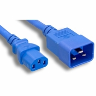 3 Foot 14AWG C13-C20 15A/250V Blue Power Cord