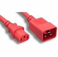 3 Foot 14AWG C13-C20 15A/250V Red Power Cord