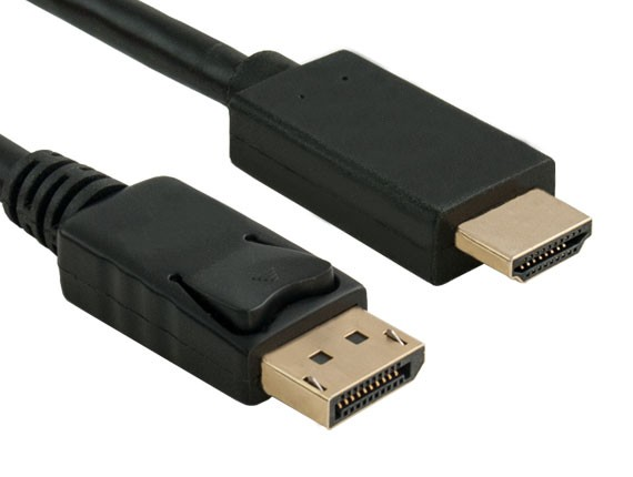3 Foot DisplayPort 1 2 Male to HDMI Male Cable, UHD 4K 30p