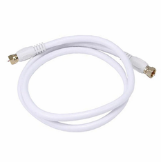 3 Foot Premium 18AWG RG6 CL2 (In-Wall) Quad Shield Gold Plated Coax Cable - White