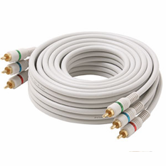 3 Foot Steren White Python™ Component Video Cable