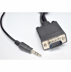 3 Foot SVGA cable with 3.5mm Stereo Audio