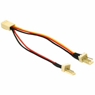 "3 Pin Female to (2) 3 Pin Male 4"" Fan Splitter Cable"