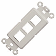 3 Port Decora Insert for Keystone Jacks