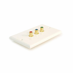 3 RCA Component Video Wallplate ( RGB ) RCA Coupler Type, Decora Style