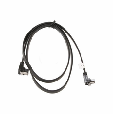 "36"" SATA II Data Cable, Black, w/Latch, Right Angle to Right Angle"