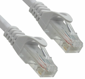 4 Foot White CAT6 Ferrari Boot Network Patch Cable