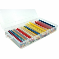 4 inch Pre-Cut Heat Shrink Sleeve Tubing Assorted Size Set, 2:1, 160pcs - Assorted Colors