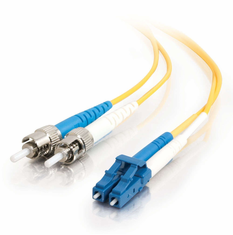 4 Meter ST/LC Single Mode Duplex 9/125  Fiber Cable