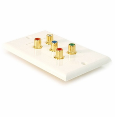 5 RCA Component Video+Audio Wallplate ( RGB + Audio ) RCA Coupler Type, Decora Style