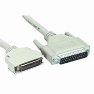 50 Foot DB25M - Half Pitch Centronics (HPCEN36M) IEEE Printer Cable