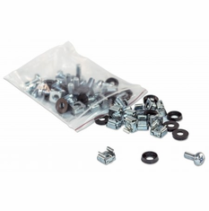50 Pack of M6 Cage Nuts with Screws and Washers